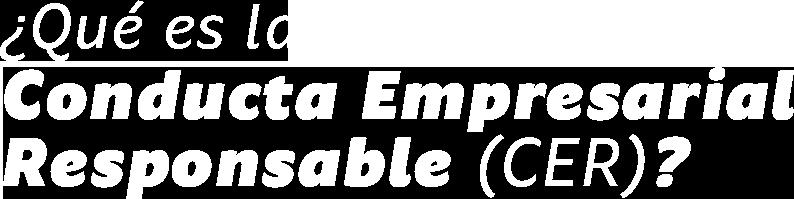 ¿Qué es la Conducta Empresarial Responsable (CER)?